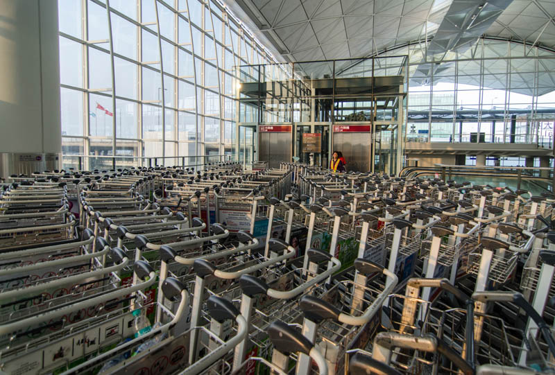 Returning Carts at HKIA