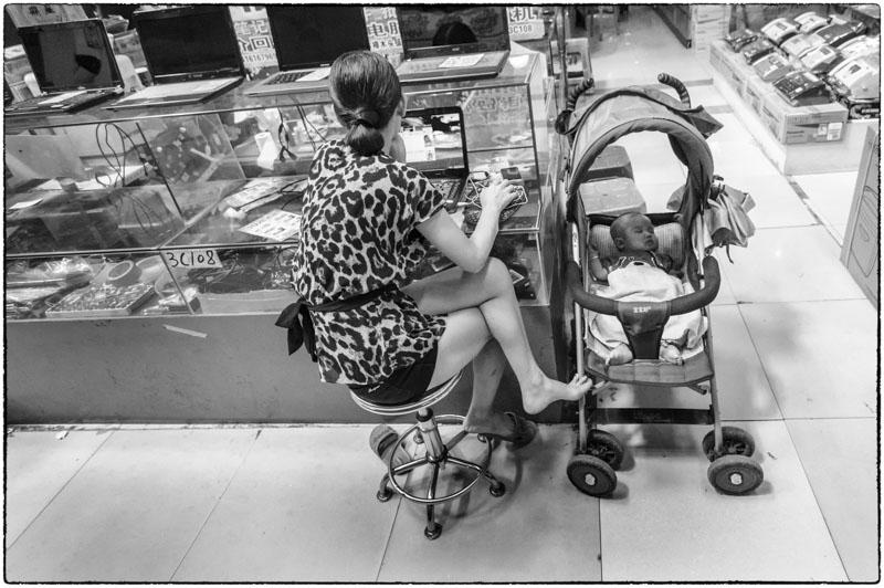 Raising Baby at the Computer Mall