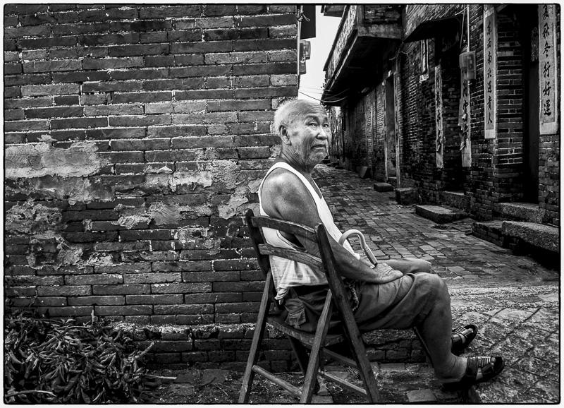 Man in Old Village