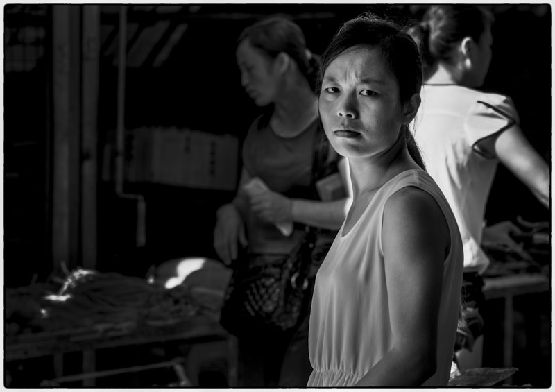 Grumpy Market Lady