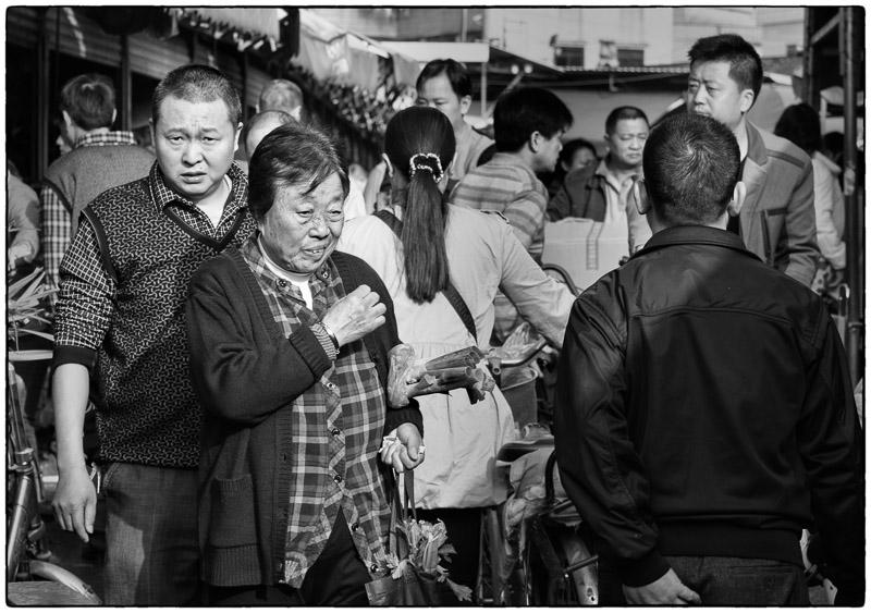 Crowd in Qingxi