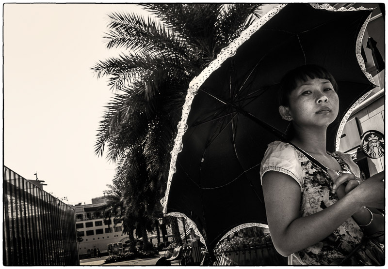 Sea World Umbrella Lady