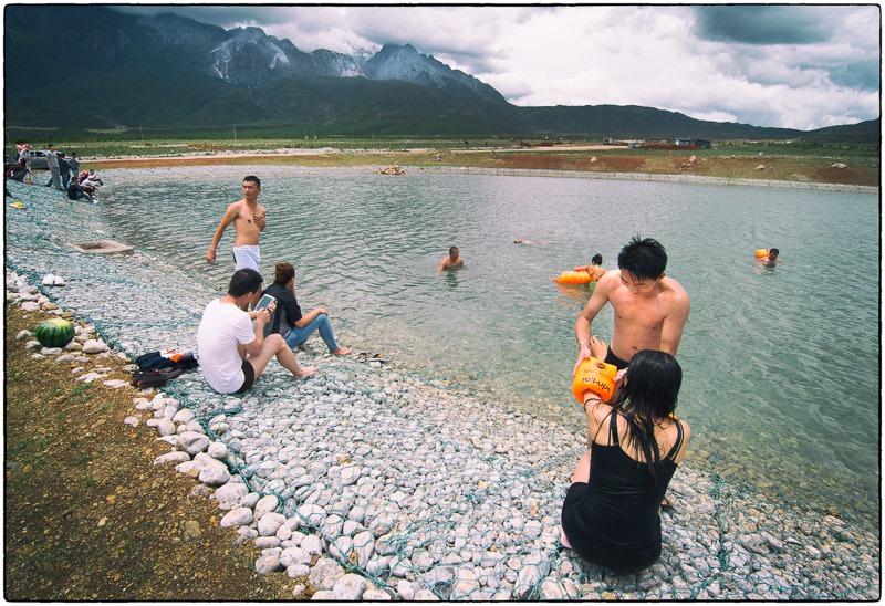 Swimming Near Snow Mountain Lijiang