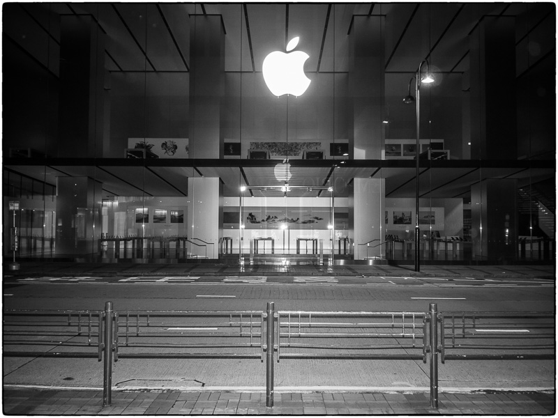 Kowloon Apple Store at Six AM