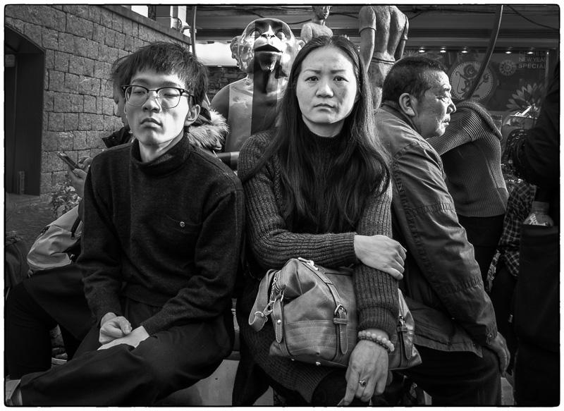 Macau Monkey Photo Bomb