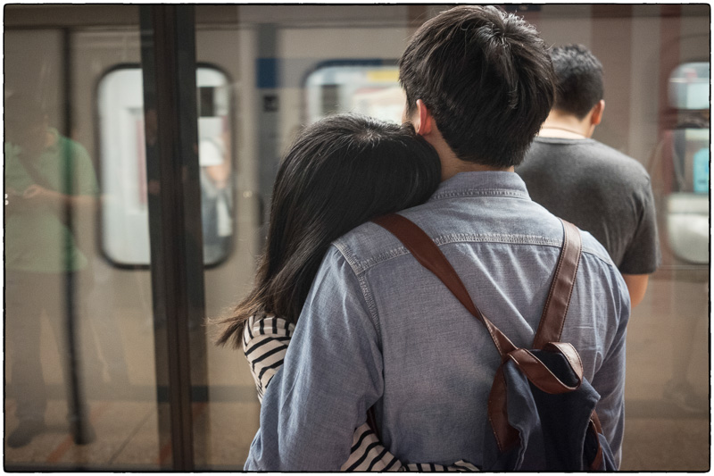 HK Subway Embrace